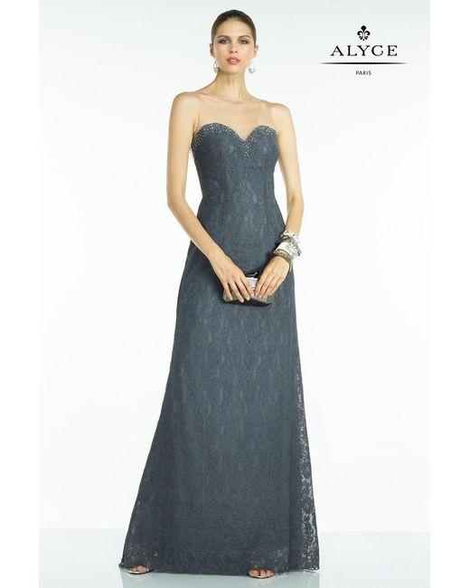 Alyce Paris | Gray B'dazzle - Dress In Charcoal | Lyst