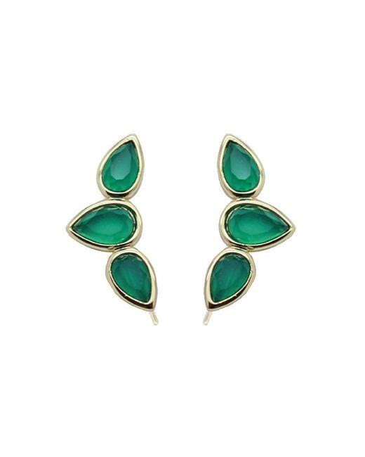 Rachael Ryen - Green Teardrop Wing Pins - Emerald Onyx - Lyst