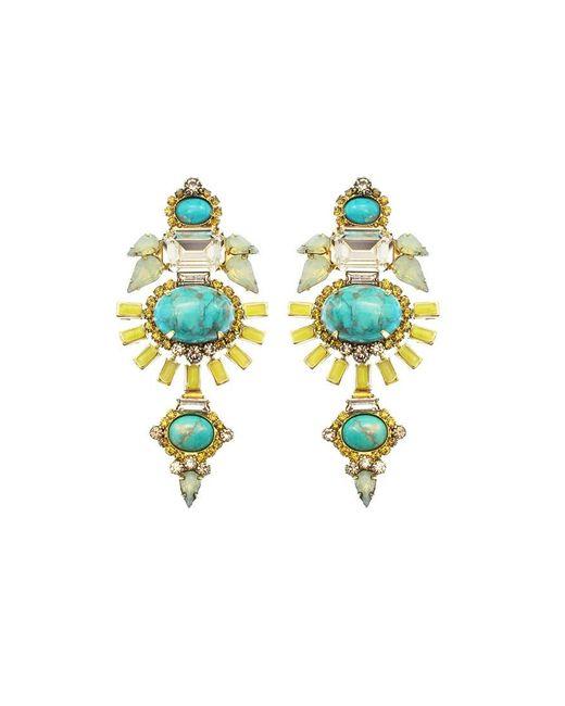 Elizabeth Cole | Blue Henning Earring | Lyst