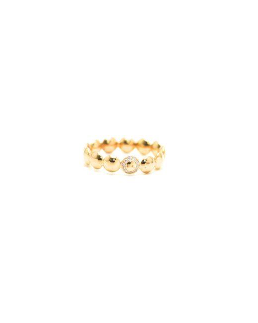 Trésor - Metallic Lente Ring With Diamond Detail In K Rose Gold - Lyst