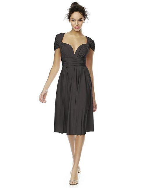 Dessy Collection - Black Twist Dress In Graphite - Lyst