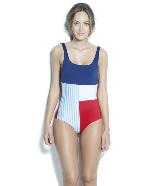 Estivo Swimwear | Multicolor Removable Cups & Tummy Control Contrast One Piece /new/ | Lyst