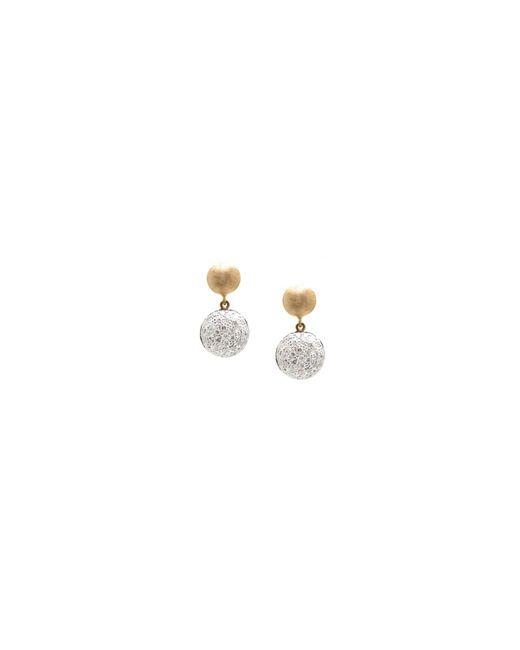 Trésor - Metallic Lente Tier Earrings With Pave Diamond In K Yg - Lyst