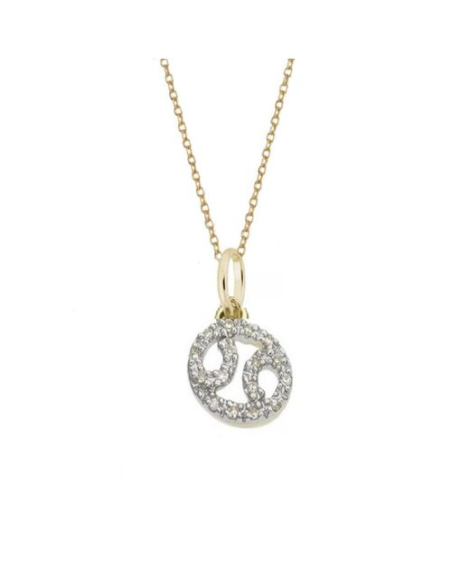 Rachael Ryen | Metallic Cancer Diamond Zodiac Charm Necklace | Lyst