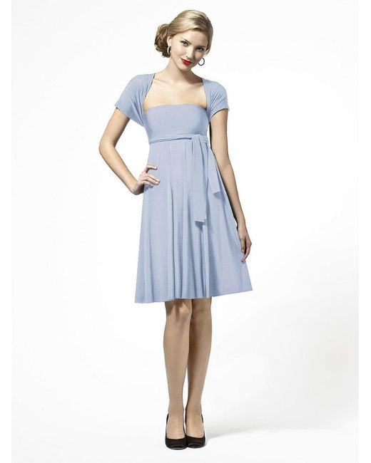 Dessy Collection - Gray Lbtwist Dress In Heather - Lyst