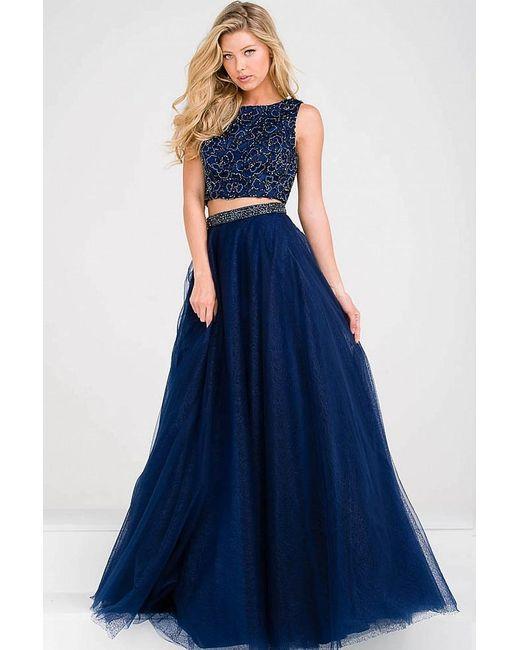 Jovani - Blue Embellished Bodice Two Piece Prom Ballgown Jvn47919 - Lyst