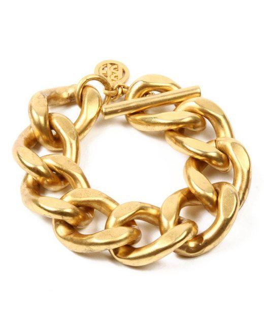 Ben-Amun - Metallic Matte Gold Link Bracelet - Lyst