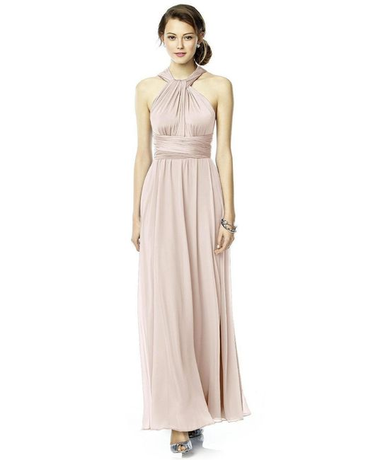 Dessy Collection - Pink Luxtwist2 Dress In Blush - Lyst