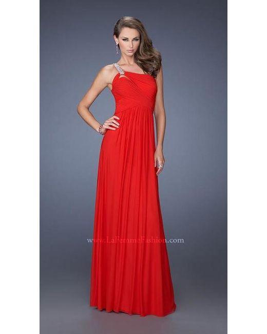 Lyst - La Femme Prom Dress in Red
