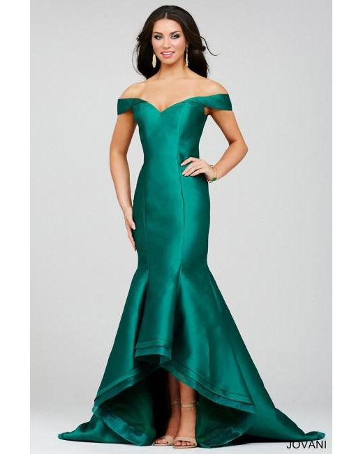 Lyst - Jovani Pretty Trumpet Long Gown in Green