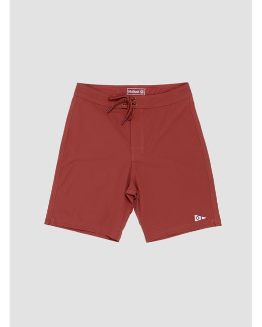 Mollusk Red Stretch Notched Trunk Brick for men