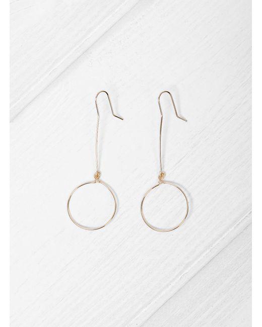 Mila Marin   Brown Andy Hoop Earrings   Lyst