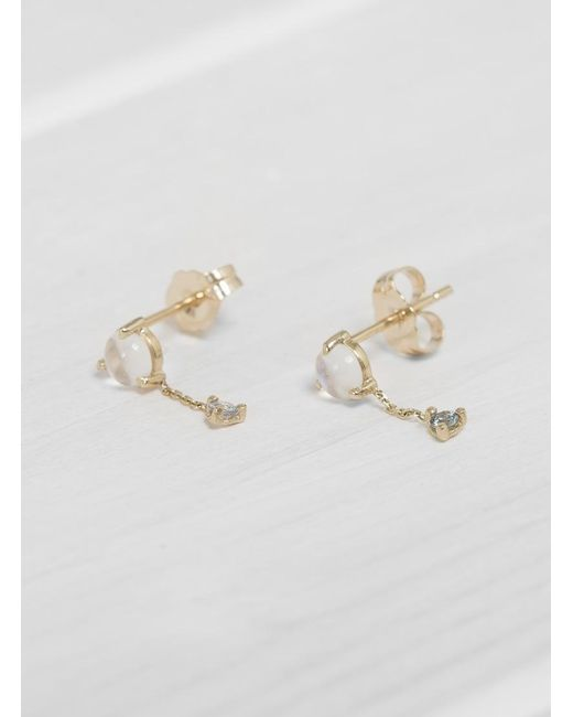 Wwake | Multicolor Large Two Step Chain Earrings | Lyst