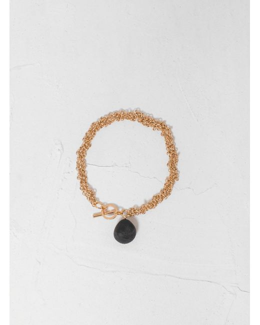 Helena Rohner Metallic Braided Chain Bracelet W Bead