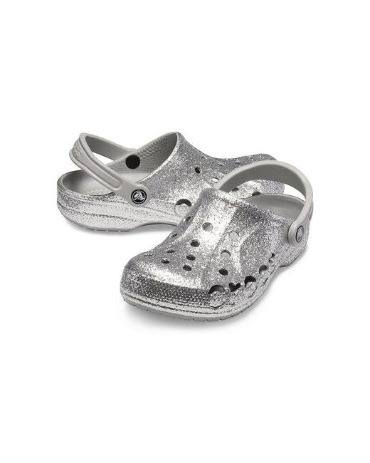 buy online 7f610 8251e Crocs™ - Metallic Baya Glitter Clog - Lyst