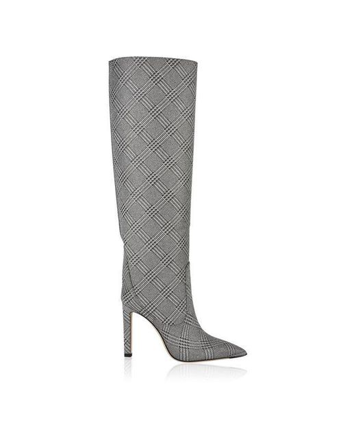 Jimmy Choo Metallic Marvis Checked Boots