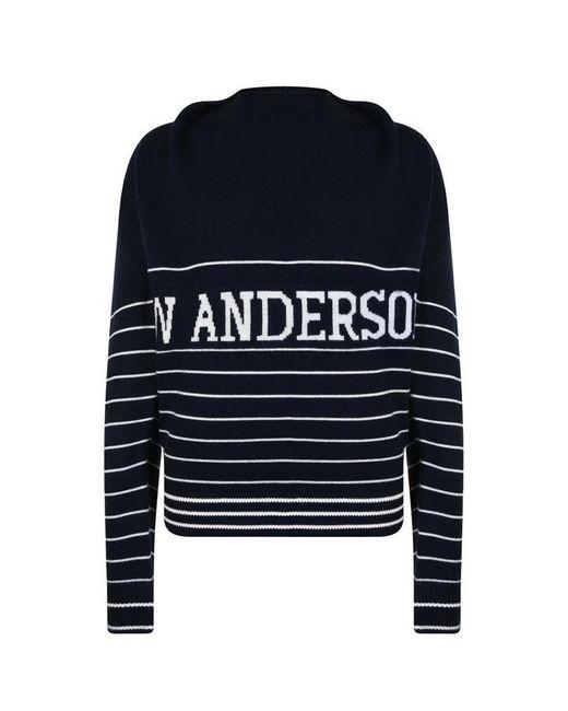 J.W. Anderson Blue Logo Knitted Jumper for men