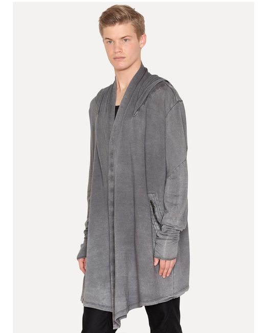 Lost & Found | Gray Negative Linen Sweat Over Short for Men | Lyst