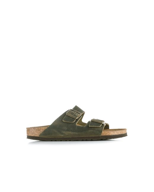 Birkenstock Green Arizona Soft Footbed Oiled Nubuck Jade for men
