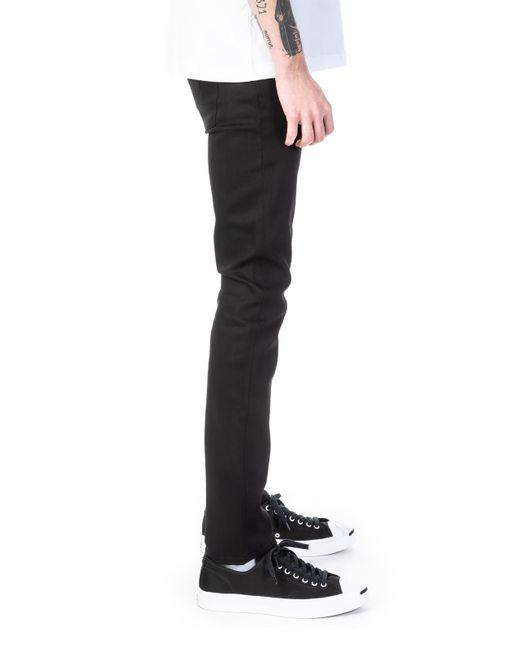Nudie Jeans Mens Grim Tim Dry Ever Black Jeans