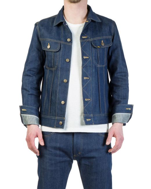 Lee Jeans - Blue Rider Jacket Indigo Dry Selvage 12oz for Men - Lyst