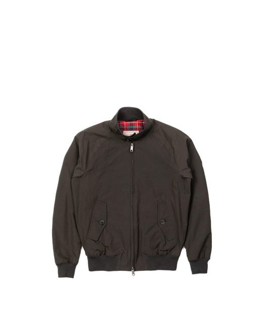 Baracuta G9 Classic Harrington Jacket Faded Black for men