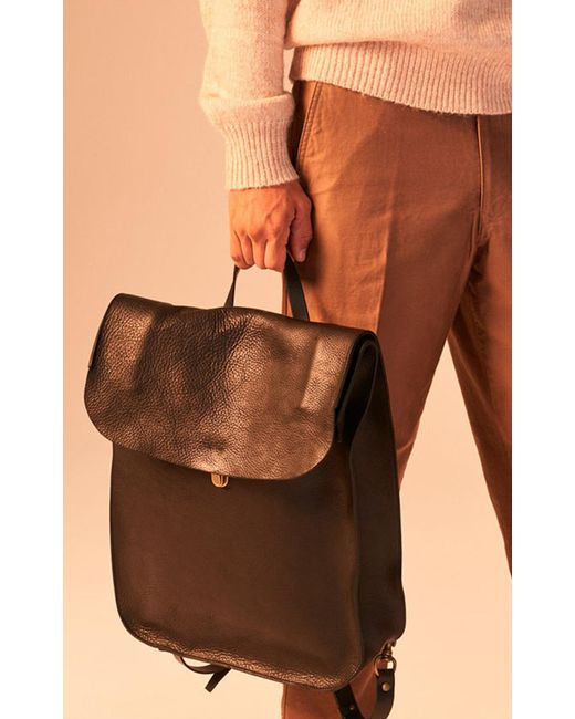 ... Bleu De Chauffe - Arlo Leather Backpack Black for Men - Lyst ... 296ae36f57682