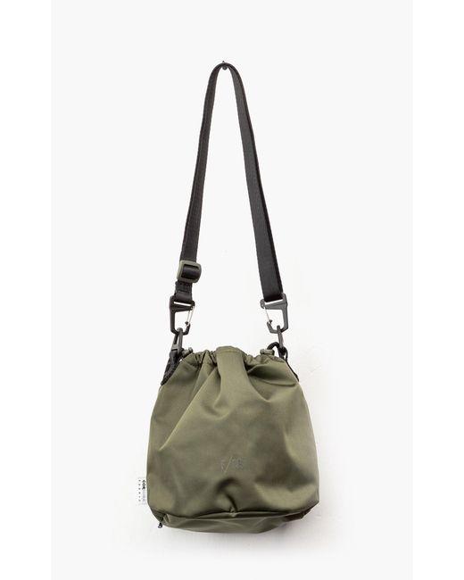 F/CE Green Satin Drawstring Bag Olive for men