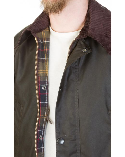 1f333bc98341 ... Barbour - Green Classic Bedale Wax Jacket Olive for Men - Lyst ...