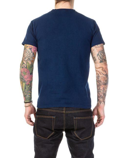 9180398ae Men's Blue Crew Neck Pocket T-shirt Indigo