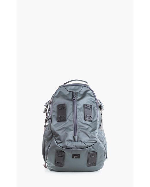 F/CE Black Satin Travel Backpack Grey for men
