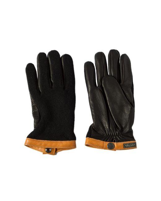 Hestra - Sport Classic Deerskin Wool Tricot Black/black for Men - Lyst