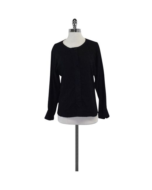 Isabel Marant - Black Cotton Button Up Shirt - Lyst