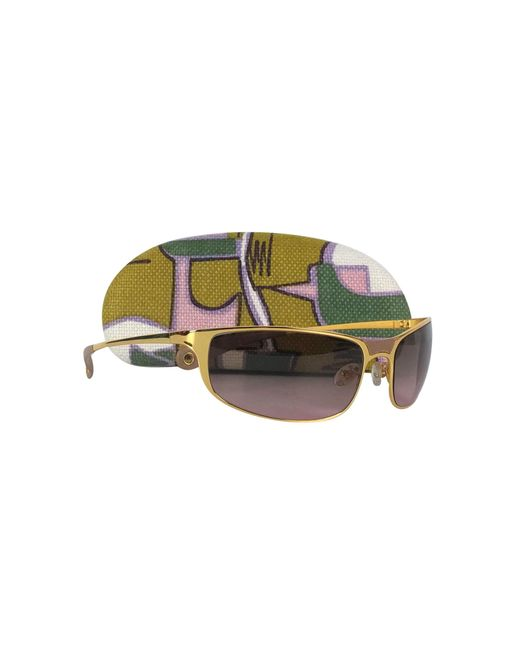 bc61026255c Marni - Metallic Gold Rectangular Frame Sunglasses - Lyst ...