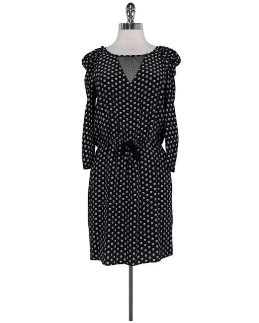 Miu Miu Black & White Circle Print Dress