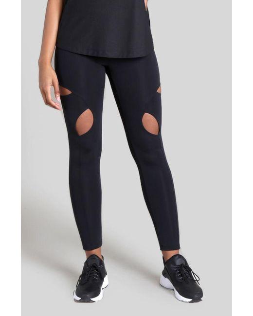 Cushnie et Ochs - Black Wren High Waist Cut-out Knee Legging - Lyst