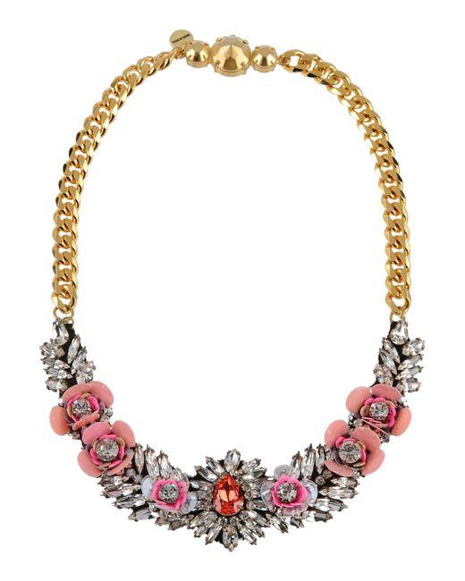 Shourouk | Pink Necklace | Lyst
