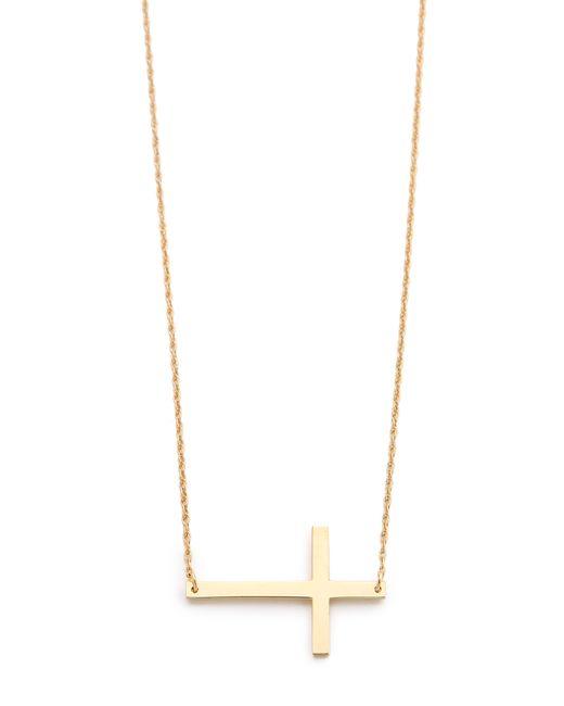 Jennifer Zeuner | Metallic Horizontal Cross Necklace | Lyst