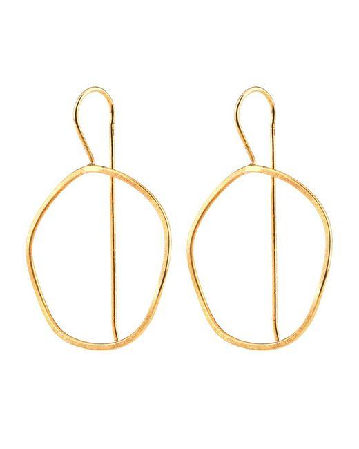 Dutch Basics | Metallic Waves Earrings Gold | Lyst