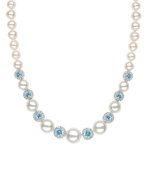 Lord & Taylor Sterling Silver Freshwater Pearl Blue And