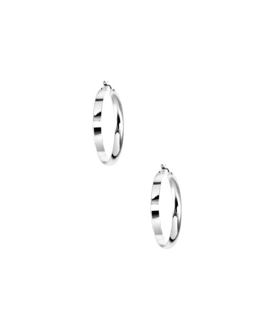 Nine West | Metallic Classic Silver Hoop Earrings | Lyst