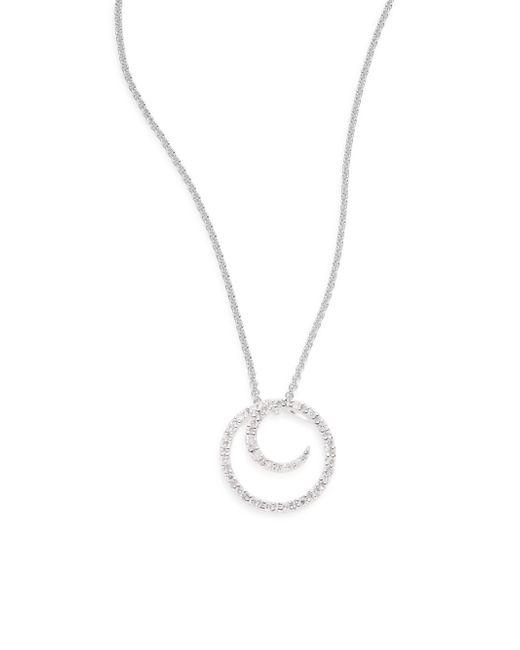Saks Fifth Avenue | Metallic 0.1 Tcw Diamond & 14k White Gold Swirl Necklace | Lyst