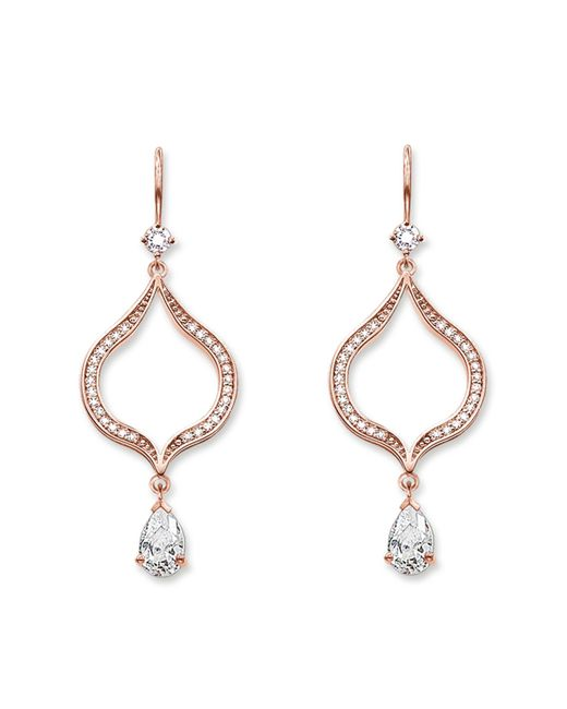 Thomas Sabo | Metallic Purity Of Lotos Chandelier Earrings | Lyst