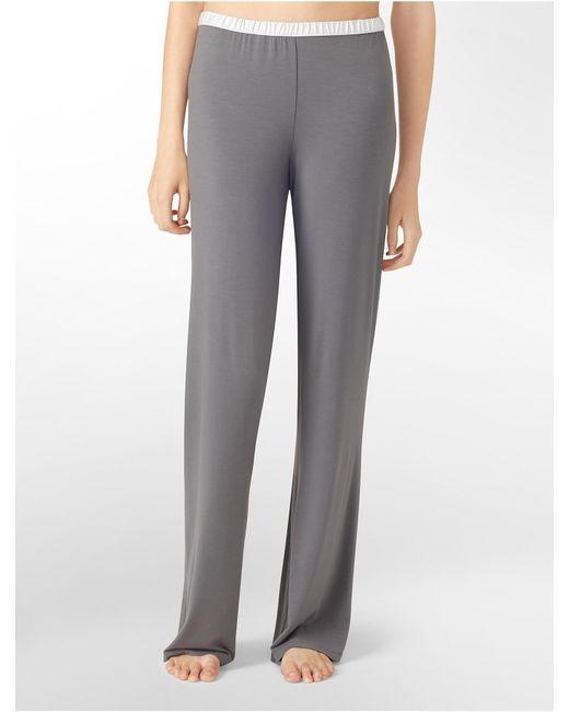 Calvin Klein | Gray Underwear Essentials Satin Trim Lounge Pants | Lyst