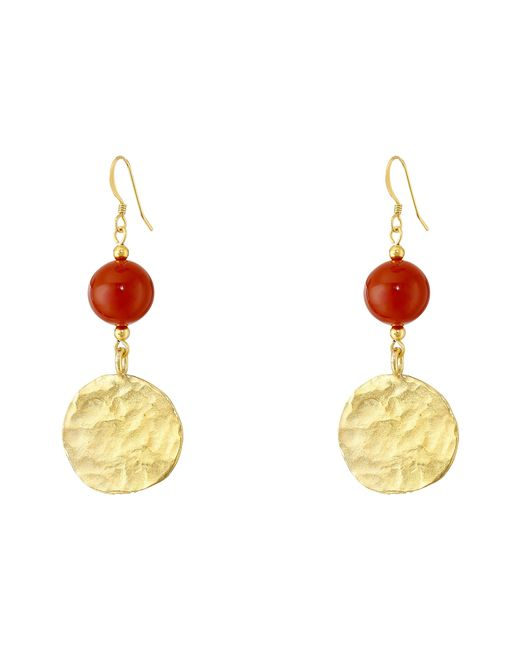 Kenneth Jay Lane | Metallic Bead And Coin Drop Wire Earrings | Lyst
