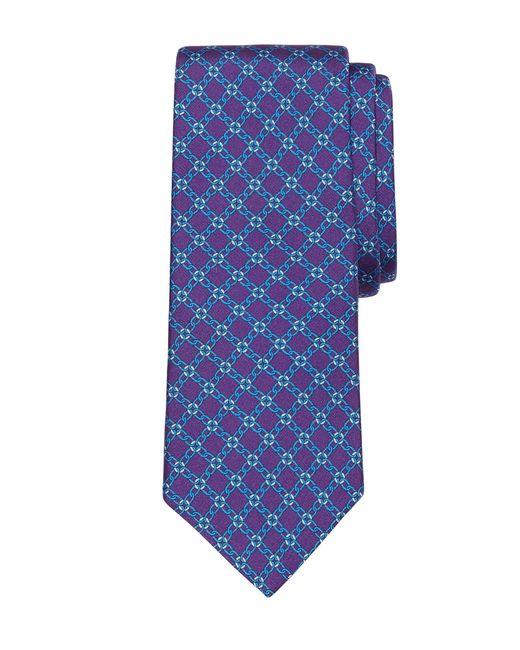 Brooks Brothers | Purple Diamond Link Print Tie for Men | Lyst