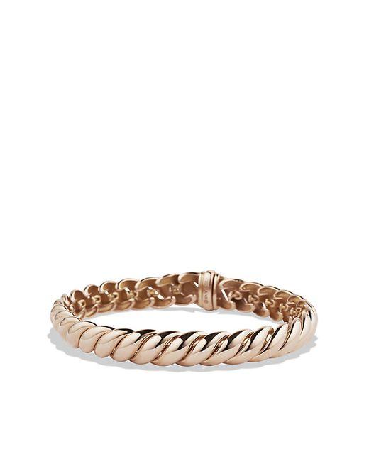 David Yurman   Pink Hampton Cable Bracelet In 18k Rose Gold, 8.5mm   Lyst