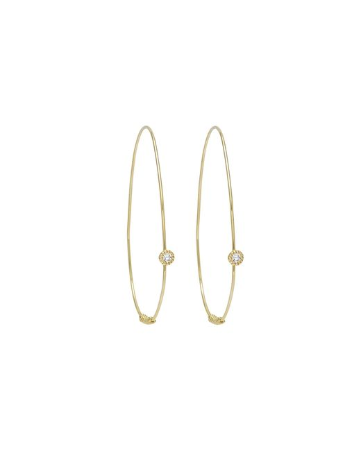 Lagos | Metallic 18k Gold And Diamond Hoop Earrings | Lyst