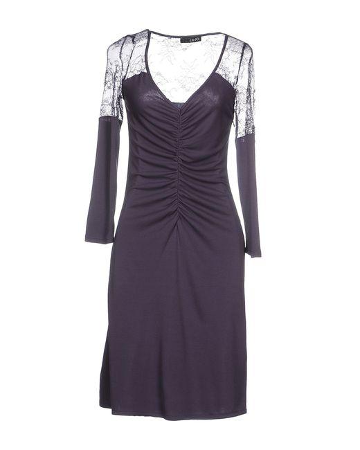 Liu Jo | Purple Short Dress | Lyst