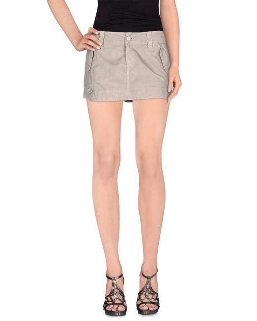 Dondup | Gray Mini Skirt | Lyst